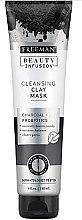 Parfumuri și produse cosmetice Mască de față purificatoare cu carbon activ, probiotice și ser - Freeman Beauty Infusion Cleansing Clay Mask Charcoal & Probiotics