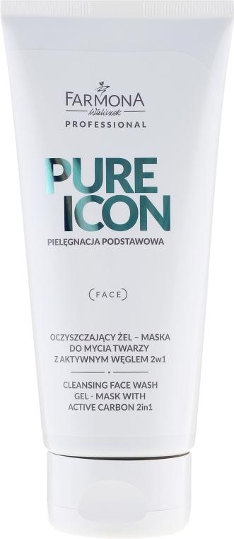 Gel-Mască pentru curățarea feței - Farmona Pure Icon Cleansing Face Wash Gel-Mask