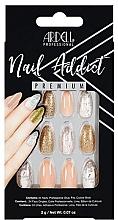 Parfumuri și produse cosmetice Set unghii false - Ardell Nail Addict Premium Artifical Nail Set Pink Marble & Gold