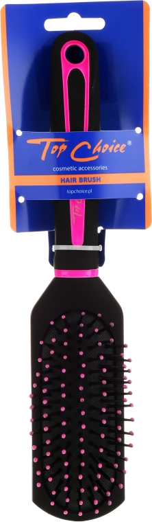 """Perie de păr cu peri de nailon """"Neon"""", 63688, negru și roz - Top Choice — Imagine N1"""
