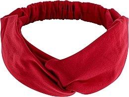 "Parfumuri și produse cosmetice Bentiță din tricotaj, roșie ""Knit Twist"" - MakeUp Hair Accessories"
