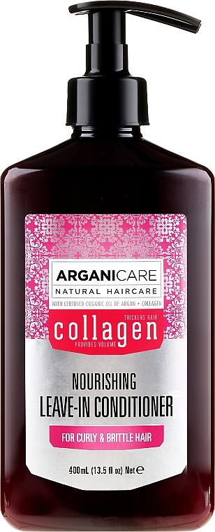 Balsam fără clătire pentru păr pufos - Arganicare Collagen Nourishing Leave-In Conditioner