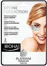 Parfumuri și produse cosmetice Patch-uri sub ochi - Iroha Nature Platinum Patches Extra Glowing Eyes