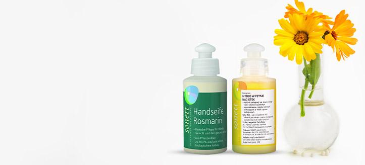 При покупке товаров Sonett на сумму от 175 MDL, получи в подарок жидкое мыло на выбор