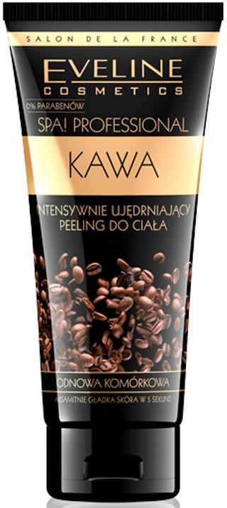 Scrub intensiv pentru elasticitatea pielii, de corp, cafea - Eveline Cosmetics Spa Professional