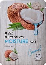 Parfumuri și produse cosmetice Mască hidratantă pentru față - SNP Fruits Gelato Moisture Mask Coconut