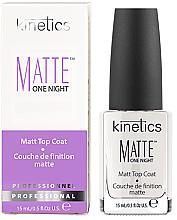 Parfumuri și produse cosmetice Fixator mat de unghii - Kinetics Matte One Night Top Coat