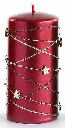 Lumânare decorativă, bordo, 7x14 cm - Artman Christmas Garland — Imagine N1