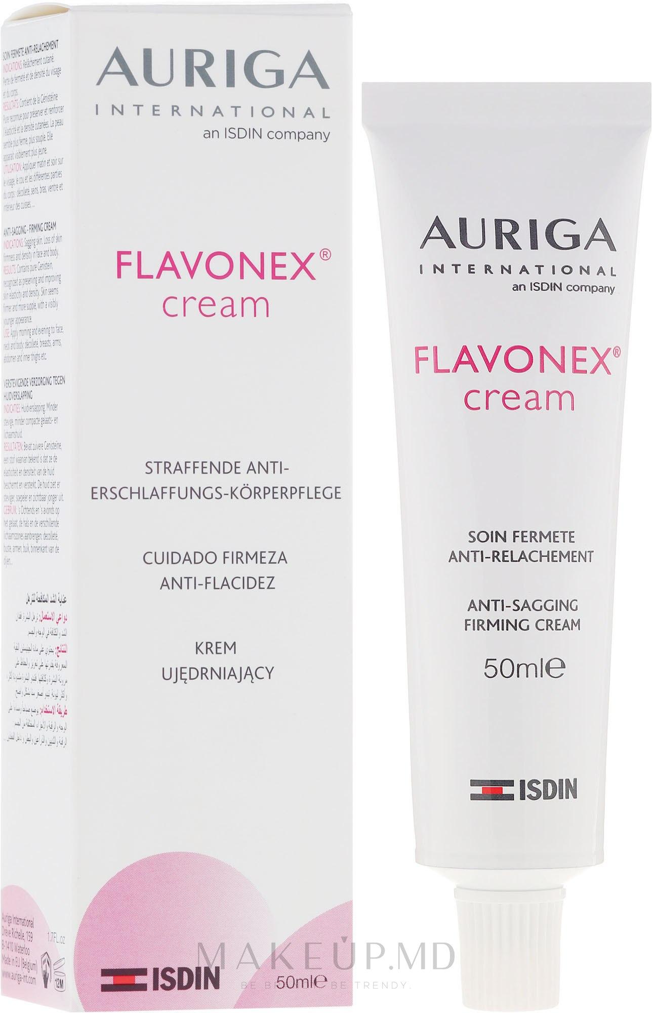 Cremă de întărire pentru față și corp - Auriga Flavonex Skin Ageing And Elasticity — Imagine 50 ml