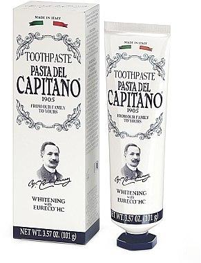 """Pastă de dinți """"Albire"""" - Pasta Del Capitano Whitening Toothpaste — Imagine N1"""