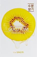 Parfumuri și produse cosmetice Mască de țesut cu extract de kiwi pentru față - The Saem Natural Gold Kiwi Mask Sheet