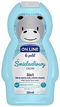 """Parfumuri și produse cosmetice Gel se spălare pentru păr, corp și față """"Cremă"""" - On Line Le Petit Cream 3 In 1 Hair Body Face Wash"""