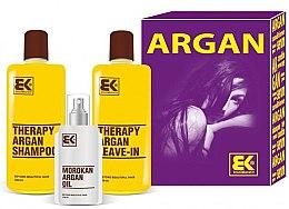 Parfumuri și produse cosmetice Set - Brazil Keratin Therapy Argan (shm/300ml + cond/300ml + oil/100ml)