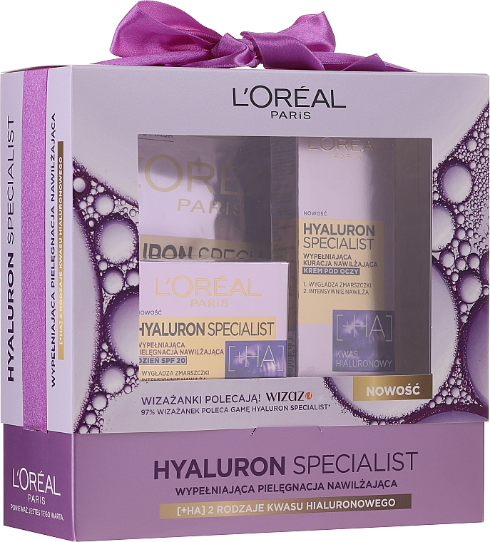 Set - L'Oreal Paris Hayaluron (cr/50ml + eye/cr/15ml + mask/30g)