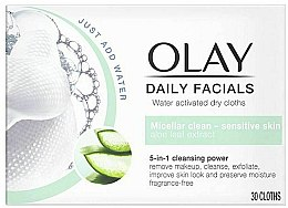Parfumuri și produse cosmetice Șervețele uscate pentru curățarea tenului sensibil - Olay Cleanse Daily Facials Cloths Sensitive