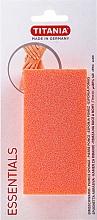 Parfumuri și produse cosmetice Piatră ponce, portocalie, dreptunghiular - Titania