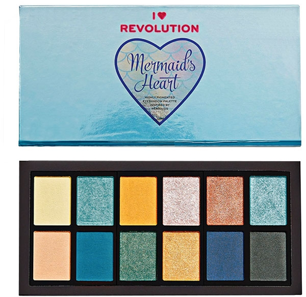 Paletă de farduri de pleoape - Makeup Revolution Mermaid's Heart Eyeshadow Palette