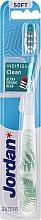 Parfumuri și produse cosmetice Periuță de dinți, moale, cu capac de protecție, albă, ferigă - Jordan Individual Clean Soft