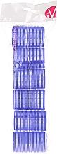 Parfumuri și produse cosmetice Bigudiuri Velcro, 499595, albastre - Inter-Vion