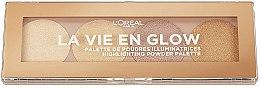 Parfumuri și produse cosmetice Paletă de farduri iluminatoare - L'Oreal Paris La Vie En Glow Highlighting Powder Palette