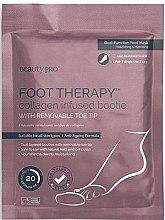 Parfumuri și produse cosmetice Șosete pentru pedichiură cu colagen marin - BeautyPro Foot Therapy Collagen Infused Bootie