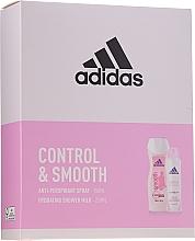 Parfumuri și produse cosmetice Set - Adidas Control & Smooth (deo/spray/150ml + sh/milk/250ml)