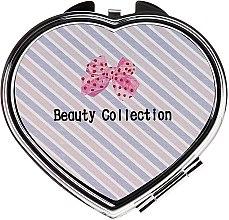 "Parfumuri și produse cosmetice Oglindă, 85628 ""Kompakt Serce"", roz- bej - Top Choice"