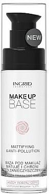 Bază de machiaj matifiantă și protectoare - Ingrid Cosmetics Make-up Base Mattifying & Anti-Pollution