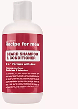 Parfumuri și produse cosmetice Șampon-balsam pentru barbă - Recipe for Men Beard Shampoo & Conditioner