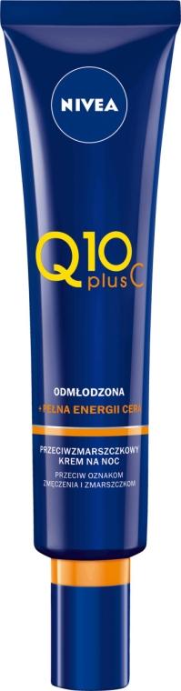 Cremă de noapte anti-îmbătrânire cu vitamina C - Nivea Q10 Plus Vitamin C Night Cream