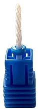 Parfumuri și produse cosmetice Freză ceramică înlocuibilă pentru manichiură, crestătură albastră - Deni Carte