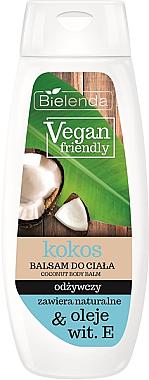 """Loțiune de corp nutritivă """"Nucă de cocos"""" - Bielenda Vegan Friendly Coconut Body Balm — Imagine N1"""