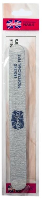 """Pilă de unghii, 180/240, gri, """"RN 00281"""" - Ronney Professional"""