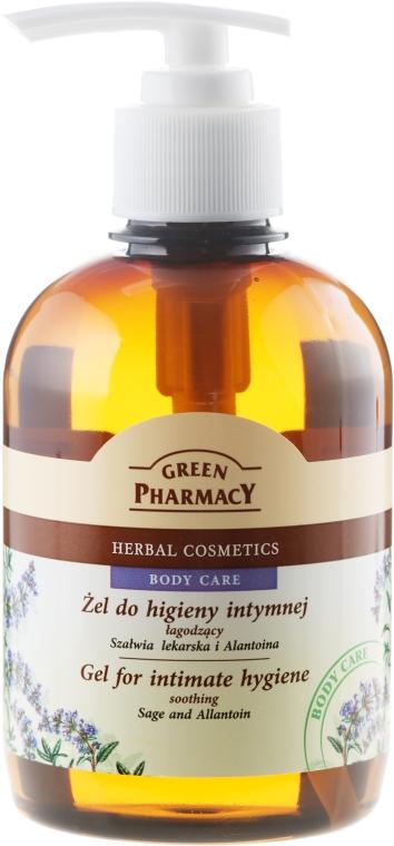 Gel hidratant pentru igiena intimă, cu salvie și alantoină - Green Pharmacy