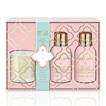 Parfumuri și produse cosmetice Set - Baylis & Harding Pink Prosecco & Elderflower (b/wash 100 ml + h/b/lot 100 ml + candle/60g)