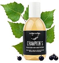 Parfumuri și produse cosmetice Șampon- gel de duș cu extract de coacăze negre și muguri de mesteacăn pentru bărbați - Uoga Uoga Shampoo-Shower Gel
