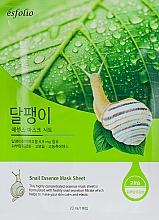 """Parfumuri și produse cosmetice Mască din țesătură """"Filtrat de melc"""" - Esfolio Snail Essence Mask Sheet"""