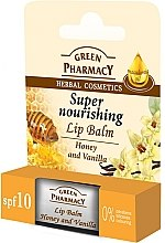 "Parfumuri și produse cosmetice Balsam de buze cu ""Miere și Vanilie"" - Green Pharmacy Lip Balm With Honey And Vanilla"