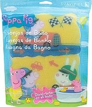 """Parfumuri și produse cosmetice Set bureți de baie """"Peppa Pig"""" 3 buc, cursă - Suavipiel Peppa Pig Bath Sponge"""