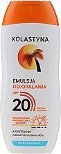 Parfumuri și produse cosmetice Emulsie bronzantă, rezistentă la apă - Kolastyna Suncare Emulsion SPF20
