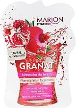 """Parfumuri și produse cosmetice Mască de față """"Rodie"""" - Marion Fit & Fresh Pomegranate Face Mask"""