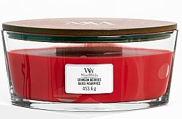 Parfumuri și produse cosmetice Lumânare aromată în suport de sticlă - WoodWick Ellipse Scented Candle Crimson Berries