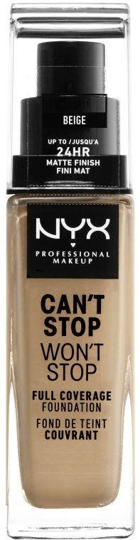 Bază pentru machiaj - NYX Professional Makeup Can't Stop Won't Stop Full Coverage Foundation