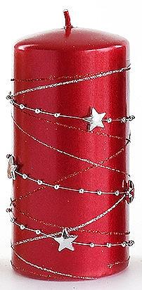 Lumânare decorativă, roșie, 7x14 cm - Artman Christmas Garland — Imagine N1