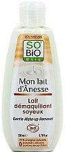 Parfumuri și produse cosmetice Loțiune cu lapte de măgar pentru demachiere - So'Bio Etic Gentle Make-up Remover