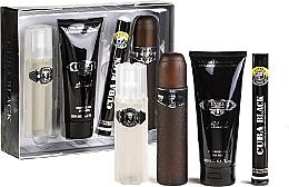 Parfumuri și produse cosmetice Cuba Black - Set (edt/100 ml + edt/35 ml + sh/gel/200 ml + ash/lot/100 ml)