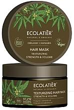 """Parfumuri și produse cosmetice Mască de păr """"Întărire și texturare"""" - Ecolatier Organic Cannabis Hair Mask"""