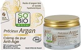 Parfumuri și produse cosmetice Cremă de zi pentru față - So'Bio Etic Precieux Argan Anti-Age Day Cream