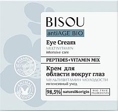"""Parfumuri și produse cosmetice Cremă pentru ochi """"Multivitamine"""" - Bisou AntiAge Bio Eye Cream"""