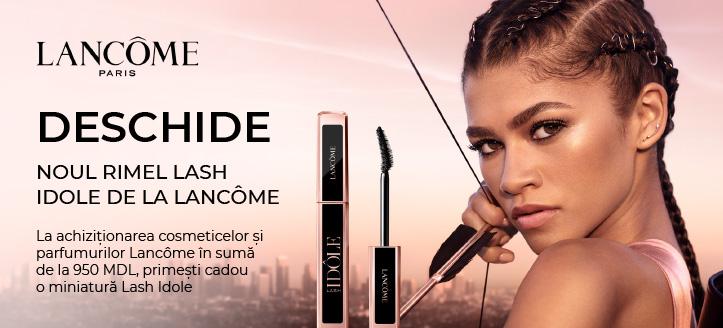 La achiziționarea cosmeticelor și parfumurilor Lancôme în sumă de la 950 MDL, primești cadou o miniatură Lash Idole